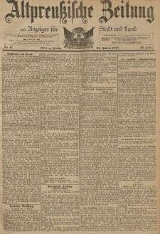 Altpreussische Zeitung, Nr. 17 Freitag 20 Januar 1893, 45. Jahrgang