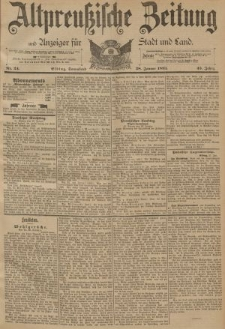 Altpreussische Zeitung, Nr. 24 Sonnabend 28 Januar 1893, 45. Jahrgang