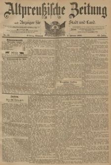 Altpreussische Zeitung, Nr. 27 Mittwoch 1 Februar 1893, 45. Jahrgang