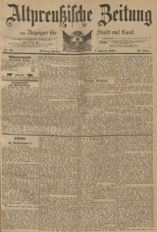 Altpreussische Zeitung, Nr. 29 Freitag 3 Februar 1893, 45. Jahrgang