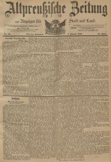 Altpreussische Zeitung, Nr. 30 Sonnabend 4 Februar 1893, 45. Jahrgang