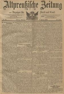 Altpreussische Zeitung, Nr. 33 Mittwoch 8 Februar 1893, 45. Jahrgang