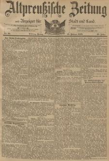Altpreussische Zeitung, Nr. 35 Freitag 10 Februar 1893, 45. Jahrgang