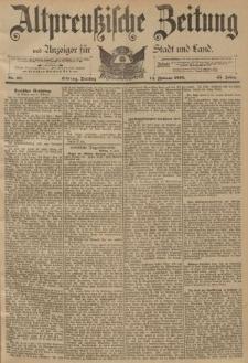Altpreussische Zeitung, Nr. 38 Dienstag 14 Februar 1893, 45. Jahrgang