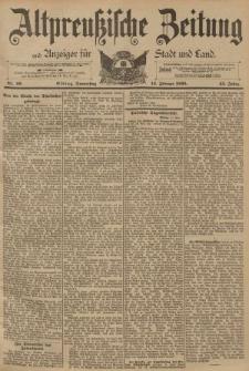 Altpreussische Zeitung, Nr. 40 Donnerstag 16 Februar 1893, 45. Jahrgang