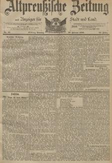 Altpreussische Zeitung, Nr. 43 Sonntag 19 Februar 1893, 45. Jahrgang