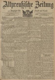 Altpreussische Zeitung, Nr. 45 Mittwoch 22 Februar 1893, 45. Jahrgang
