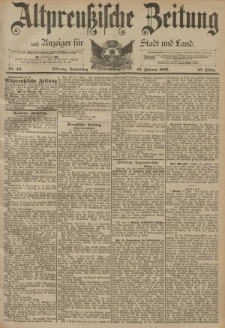 Altpreussische Zeitung, Nr. 46 Donnerstag 23 Februar 1893, 45. Jahrgang