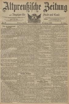 Altpreussische Zeitung, Nr. 49 Sonntag 26 Februar 1893, 45. Jahrgang