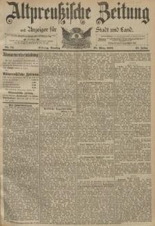 Altpreussische Zeitung, Nr. 74 Dienstag 28 März 1893, 45. Jahrgang