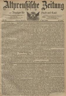 Altpreussische Zeitung, Nr. 82 Sonnabend 8 April 1893, 45. Jahrgang