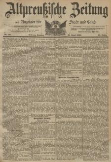 Altpreussische Zeitung, Nr. 89 Sonntag 16 April 1893, 45. Jahrgang