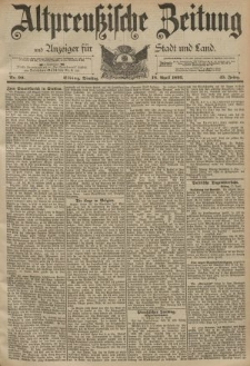 Altpreussische Zeitung, Nr. 90 Dienstag 18 April 1893, 45. Jahrgang