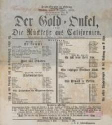 Der Gold-Onkel, oder: Die Rückkehr aus Californien (12.12. 1862 r.) - afisz