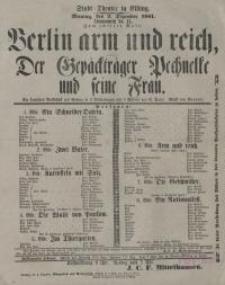 Berlin arm und reich, oder: Der Gepäckträger Pechnelke und seine Frau - Emil Pohl