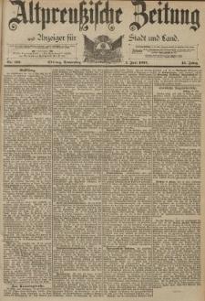 Altpreussische Zeitung, Nr. 126 Donnerstag 1 Juni 1893, 45. Jahrgang
