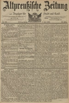 Altpreussische Zeitung, Nr. 127 Freitag 2 Juni 1893, 45. Jahrgang