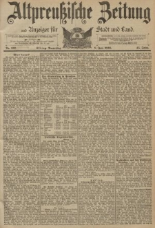 Altpreussische Zeitung, Nr. 132 Donnerstag 8 Juni 1893, 45. Jahrgang