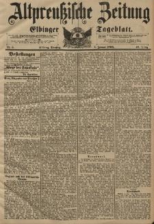 Altpreussische Zeitung, Nr. 5 Dienstag 7 Januar 1896, 48. Jahrgang