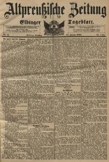 Altpreussische Zeitung, Nr. 11 Dienstag 14 Januar 1896, 48. Jahrgang