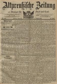 Altpreussische Zeitung, Nr. 180 Donnerstag 3 August 1893, 45. Jahrgang