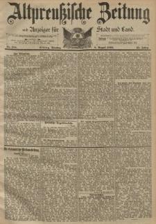 Altpreussische Zeitung, Nr. 184 Dienstag 8 August 1893, 45. Jahrgang