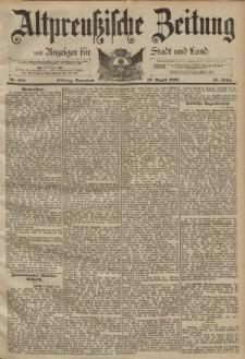 Altpreussische Zeitung, Nr. 188 Sonnabend 12 August 1893, 45. Jahrgang