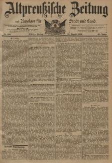 Altpreussische Zeitung, Nr. 193 Freitag 18 August 1893, 45. Jahrgang