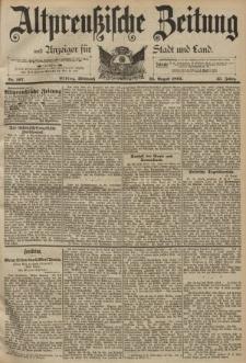 Altpreussische Zeitung, Nr. 197 Mittwoch 23 August 1893, 45. Jahrgang