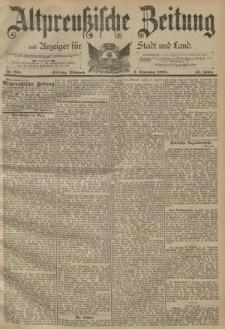 Altpreussische Zeitung, Nr. 209 Mittwoch 6 September 1893, 45. Jahrgang