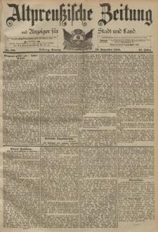 Altpreussische Zeitung, Nr. 213 Sonntag 10 September 1893, 45. Jahrgang