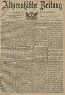 Altpreussische Zeitung, Nr. 217 Freitag 15 September 1893, 45. Jahrgang