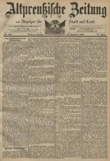 Altpreussische Zeitung, Nr. 220 Dienstag 19 September 1893, 45. Jahrgang