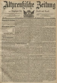 Altpreussische Zeitung, Nr. 223 Freitag 22 September 1893, 45. Jahrgang