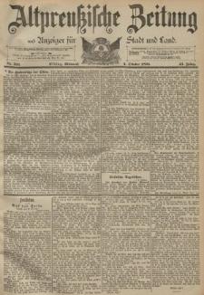 Altpreussische Zeitung, Nr. 233 Mittwoch 4 Oktober 1893, 45. Jahrgang