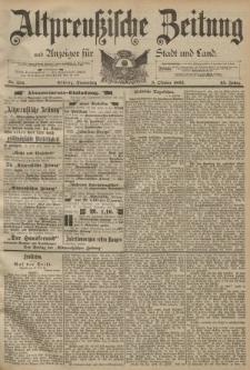 Altpreussische Zeitung, Nr. 234 Donnerstag 5 Oktober 1893, 45. Jahrgang