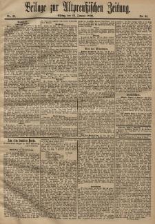 Altpreussische Zeitung, Nr. 21 . 25 Januar 1896, 48. Jahrgang