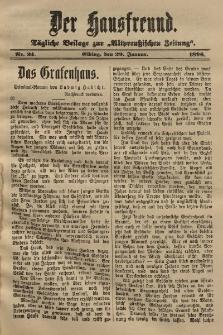 Altpreussische Zeitung, Nr. 24 . 29 Januar 1896, 48. Jahrgang