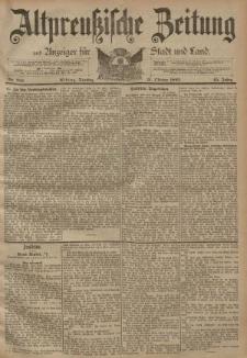 Altpreussische Zeitung, Nr. 256 Dienstag 31 Oktober 1893, 45. Jahrgang