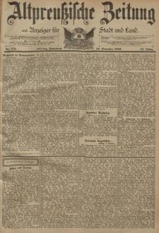 Altpreussische Zeitung, Nr. 272 Sonnabend 18 November 1893, 45. Jahrgang