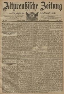 Altpreussische Zeitung, Nr. 278 Sonntag 26 November 1893, 45. Jahrgang