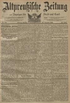 Altpreussische Zeitung, Nr. 279 Dienstag 28 November 1893, 45. Jahrgang