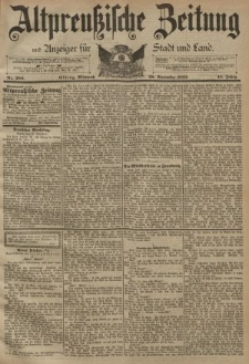 Altpreussische Zeitung, Nr. 280 Mittwoch 29 November 1893, 45. Jahrgang