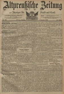 Altpreussische Zeitung, Nr. 285 Dienstag 5 Dezember 1893, 45. Jahrgang