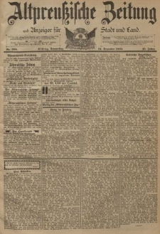 Altpreussische Zeitung, Nr. 299 Donnerstag 21 Dezember 1893, 45. Jahrgang