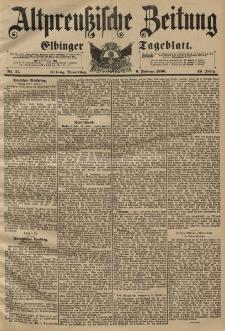 Altpreussische Zeitung, Nr. 31 Donnerstag 6 Februar 1896, 48. Jahrgang