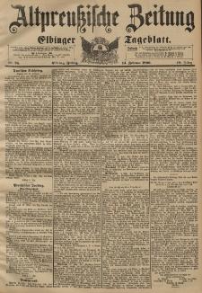 Altpreussische Zeitung, Nr. 38 Freitag 14 Februar 1896, 48. Jahrgang