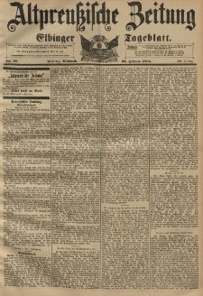 Altpreussische Zeitung, Nr. 48 Mittwoch 26 Februar 1896, 48. Jahrgang