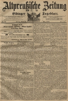 Altpreussische Zeitung, Nr. 54 Mittwoch 4 März 1896, 48. Jahrgang