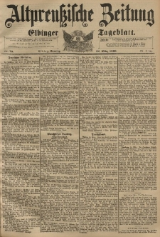 Altpreussische Zeitung, Nr. 70 Sonntag 22 März 1896, 48. Jahrgang